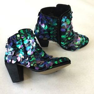 Free People Out Til Dawn sequin ankle boots
